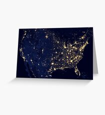 USA spaciale Greeting Card