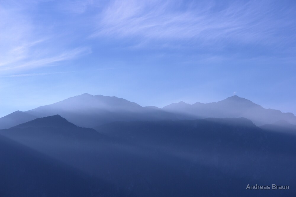 Blue mountains by Andreas Braun