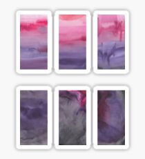 Abstract watercolor texture Sticker