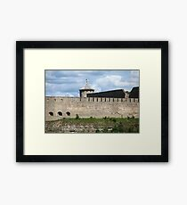 view of the old fortress wall Framed Print