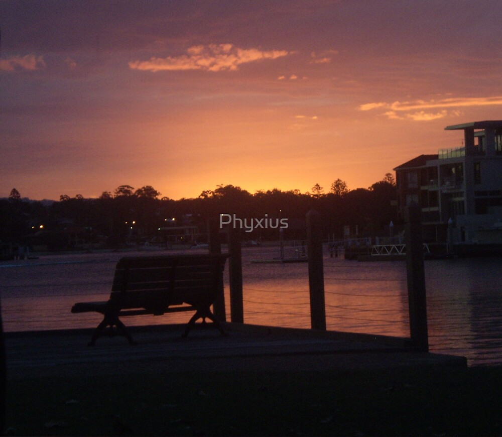 Sunset in the Park by Phyxius
