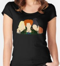 Hocus Pocus / The Sanderson Sisters Women's Fitted Scoop T-Shirt