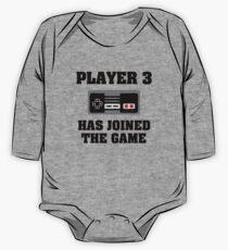 Body de manga larga para bebé El jugador 3 se ha unido al juego gracioso bebé