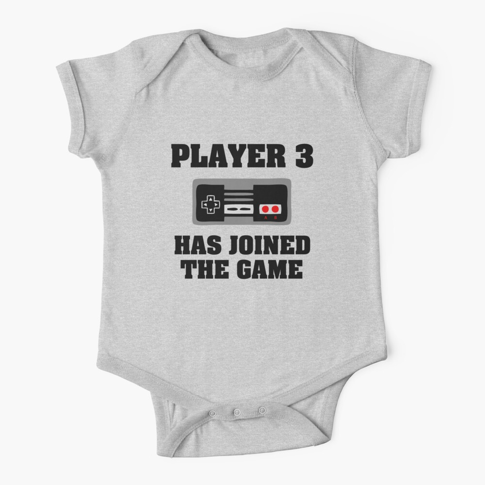 Player 3 has joined the game funny baby boy Baby One-Piece