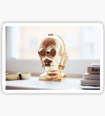 Gold Robot  Sticker