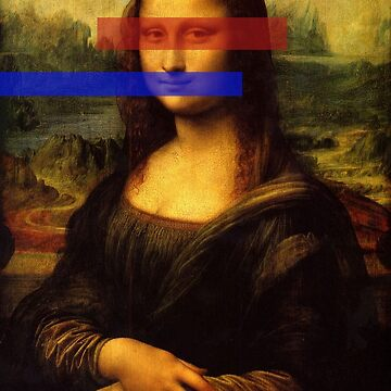 Mona Lisa Red Blue by thecattshirts