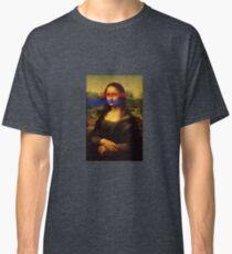 Mona Lisa Red Blue Classic T-Shirt