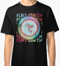 Flat Earth Designs - Flat Earth Map Azimuthal Equidistant Projection Map Design EXCELLENT Classic T-Shirt