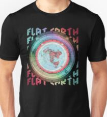 Flat Earth Designs - Flat Earth Map Azimuthal Equidistant Projection Map Design EXCELLENT T-Shirt