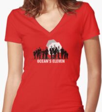 Ocean's Eleven (2001) Women's Fitted V-Neck T-Shirt