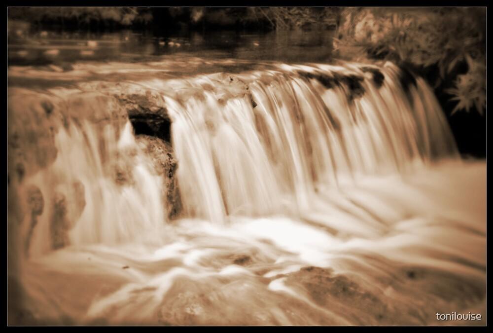 Wattamolla Falls in Sepia by tonilouise