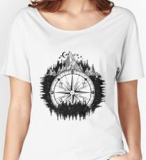 Mountain and compass Women's Relaxed Fit T-Shirt