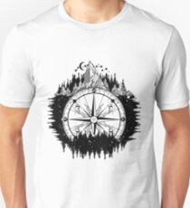 Mountain and compass T-Shirt