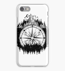 Mountain and compass iPhone Case/Skin