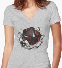 Camiseta entallada de cuello en V FALLO CRÍTICO