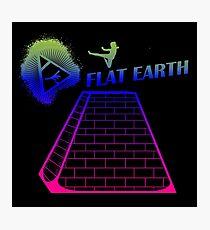Flat Earth Designs - Flat Earth Jump Kicks the Top of the Illuminati Pyramid Photographic Print