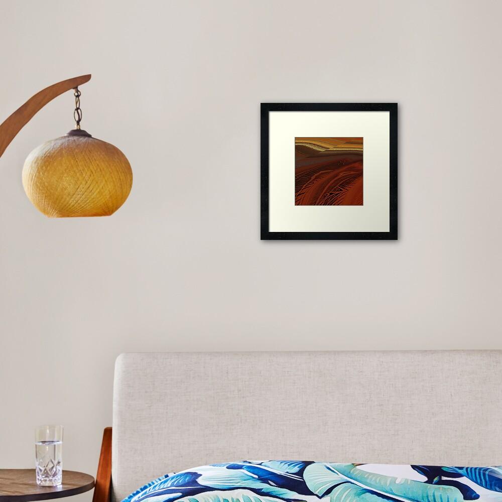 Faultline Framed Art Print