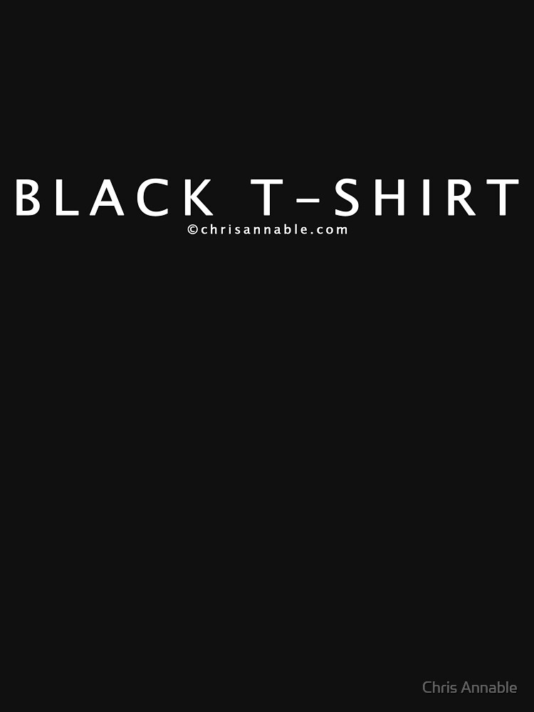Black T-Shirt by yourstruly