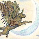 Steampunk Winged Wolf by Stephanie Small