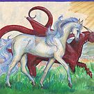 Red Dragon and White Horse by Stephanie Small
