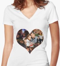 Caskett Always Heart Women's Fitted V-Neck T-Shirt