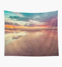 Ocean Sea Beach Water Clouds at Sunset - Hwy 101 Pacific Coast Highway Wall Tapestry