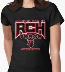 Rancho Carne Toros Cheerleading Women's Fitted T-Shirt