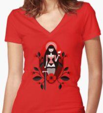 Santita Women's Fitted V-Neck T-Shirt