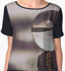 Forest Reflection at Labyrinth Lake - You Remind Me of the Babe Women's Chiffon Top