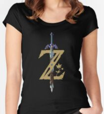 The Legend of Zelda: Breath of the Wild Z Women's Fitted Scoop T-Shirt
