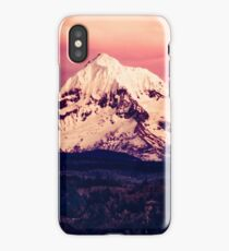 Forest Mountains - Mt Hood Snow Clouds Mountain and Trees Adventure i phone case pillow wall tapestry hanging iPhone Case/Skin