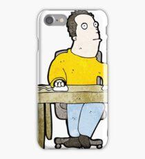 cartoon bored office worker iPhone Case/Skin