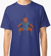 Bulldog Footballer Celebrating Goal Cartoon Classic T-Shirt