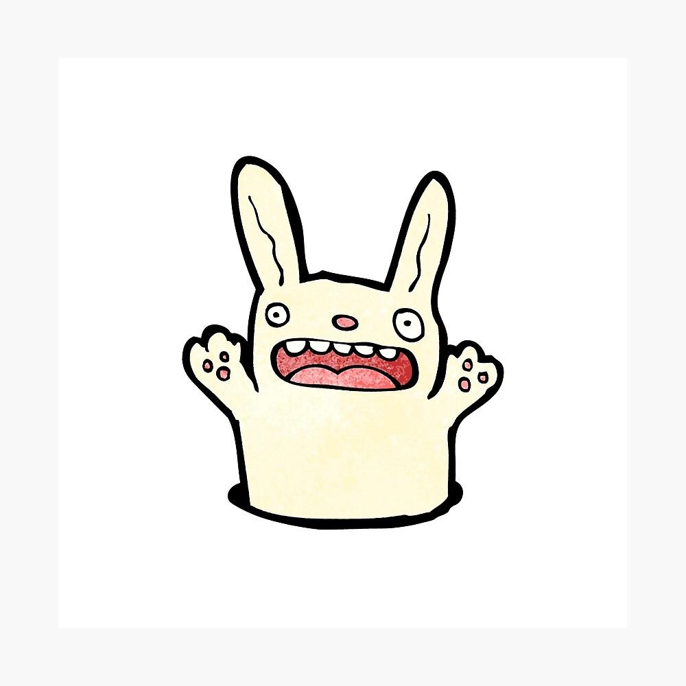 funny cartoon rabbit Fotodruck