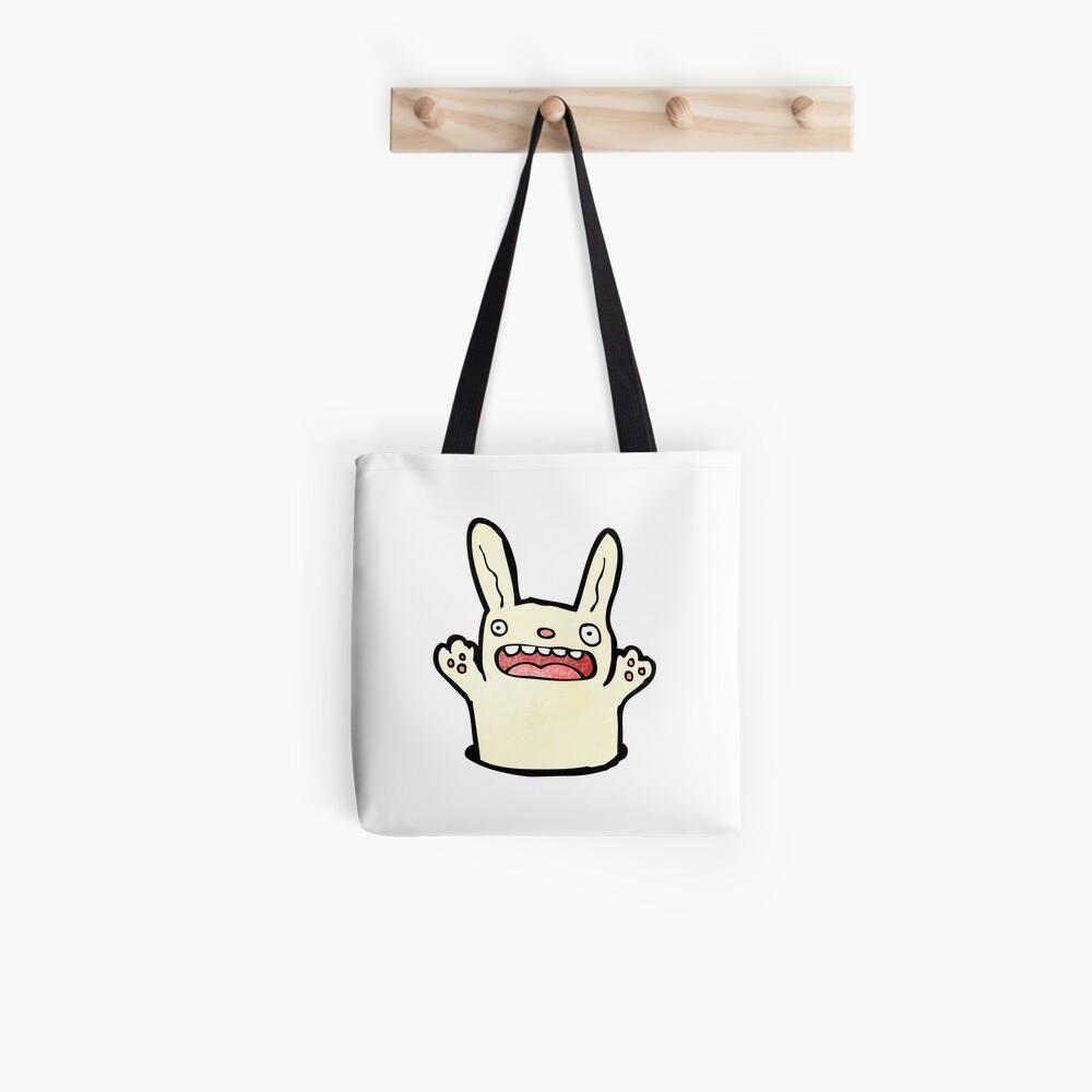 funny cartoon rabbit Tote Bag