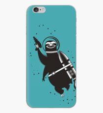 Outer space sloth rocket ray gun iPhone Case