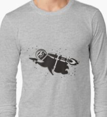 Outer space sloth rocket ray gun Long Sleeve T-Shirt