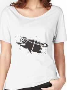 Outer space sloth rocket ray gun Women's Relaxed Fit T-Shirt