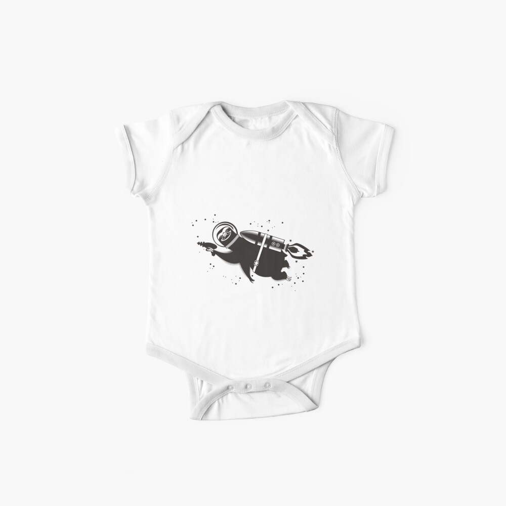 Outer space sloth rocket ray gun Baby One-Piece