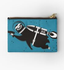 Outer space sloth rocket ray gun Zipper Pouch