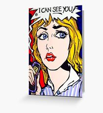 Every move you make- Stalking pop art Greeting Card