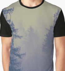 Forest Fog - Vintage Fir Trees on a Mountain Adventure Mountains Foggy Tree Forest Forests Wall Tapestry Graphic T-Shirt