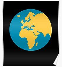Emoji Earth Globe Europe-Africa Poster