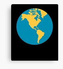 Emoji Earth Globe Americas Canvas Print