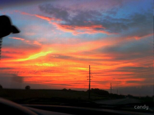 Gods sunset on the 4th of July by candy