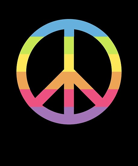 Emoji Colorful Peace Symbol Posters By Roarr Redbubble