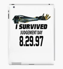 I Survived Judgement Day Terminator black iPad Case/Skin