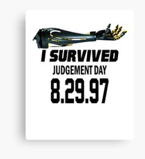 I Survived Judgement Day Terminator black Canvas Print