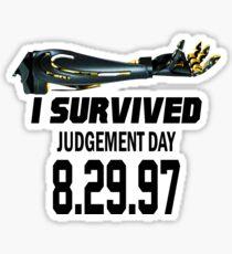 I Survived Judgement Day Terminator black Sticker