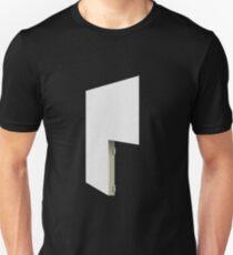 Glitch Homes Wallpaper white stucco right divide T-Shirt